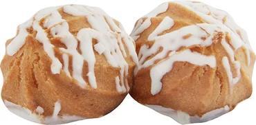 Пирожное Заварные пышечки в белой глазури, заварное