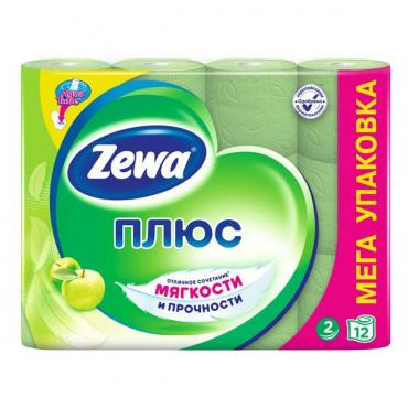 Туалетная бумага Zewa двухслойная яблоко