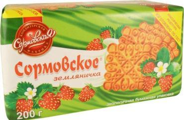 Печенье Сормовская КФ Земляничка