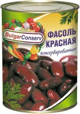 Фасоль красная BulgarConserv, 360 гр., жестяная банка