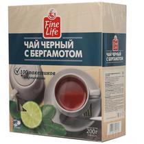 Чай черный Fine Life С бергамотом 100 пакетов 200 гр