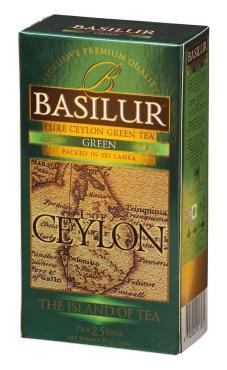 Чай Basilur Остров зеленый в пакетиках