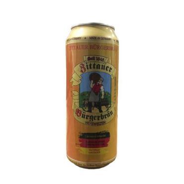Пиво светлое Циттауская городская пивоварня Пшеничное 5,2%, 500 мл., жестяная банка
