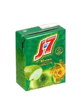 Сок J-7 яблоко зеленое 100%