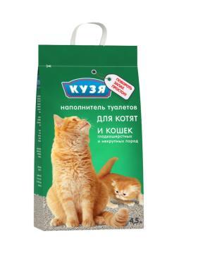 Наполнитель Кузя для котят и кошек впитывающий