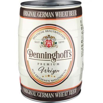 Пиво Denninghoff's Weizen светлое пшеничное нефильтрованное 5,3%