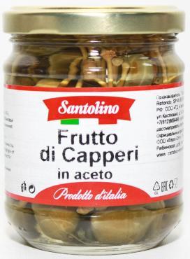 Плоды Santolino каперсов маринованные , 180 гр, стекло