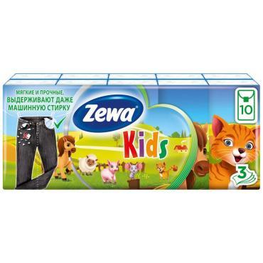 Носовые платки Zewa Deluxe Kids 10шт.