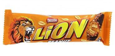 Шоколад, батончик Nestle Lion с арахисом