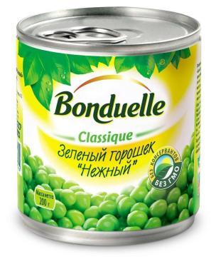 Горошек зеленый Bonduelle Нежный, 212 гр., ж/б