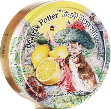 Леденцы Beatrix Potter Лимон, 200 гр., ж/б