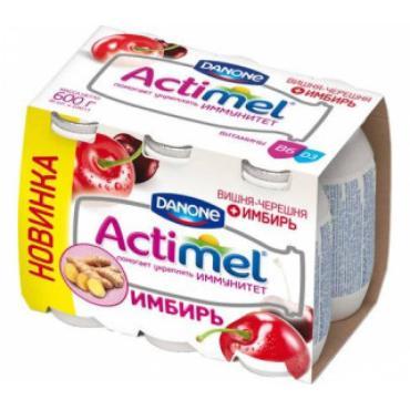 Кисломолочный продукт Actimel Вишня-черешня-имбирь 2.5%