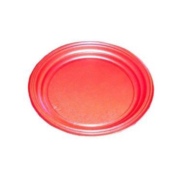 Тарелка d=205 мм., красная, ПС., 100 шт/упак., 2000 шт/кор., Пластик, пластиковый пакет
