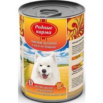 Корм Родные корма для собак мясное ассорти в желе-по боярски консервированный