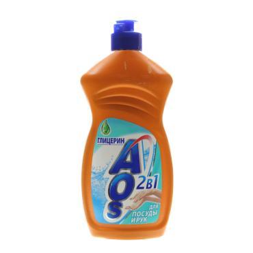 Жидкость для мытья посуды AOS Глицерин 2в1
