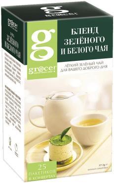 Чай в пакетиках бленд зеленого и белого чая Grace Альпийские травы, 37,5 гр., картонная коробка