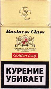 Сигареты с фильтром, Business Class, Golden Leaf, картонная пачка