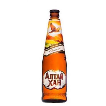 Пиво светлое Алтай Хан Бочкари, 500 мл., Стекло