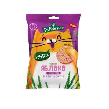 Мини-хлебцы Dr. Korner хрустящие рисовые с яблочным соком, 30 гр., флоу-пак