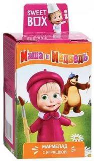 Мармелад Маша и Медведь с игрушкой, Конфитрейд, 10 гр, картон