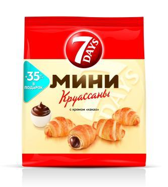 Мини круассаны 7DAYS c кремом какао