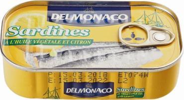 Сардины Delmonaco в растительном масле с лимоном