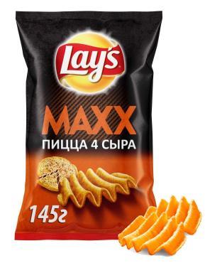 Чипсы Lay's Maxx Супер рифление Пицца 4 сыра