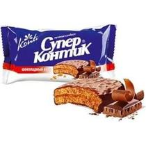 Печенье Супер-к шоколадный вкус, Конти, 100 гр., флоу-пак