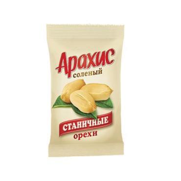 Арахис соленый, Станичные, 100 гр., флоу-пак