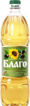 Масло подсолнечное Благо рафинированное
