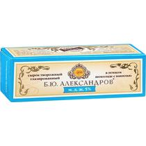 Сырок Б.Ю. Александров творожный глазированный в темном шоколаде с ванилью 5% набор 3 шт.