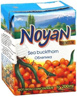 Нектар Premium Облепиха, Армения, с 3 лет, ДП, Noyan, 200 мл., тетра-пак