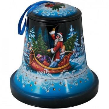 Новогодний подарокНовогодний колокольчик, Кондитерский дом Белочка, 500 гр., ж/б
