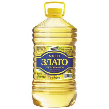 Масло Злато подсолнечное рафинированное дезодорированное