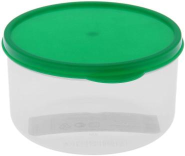 Контейнер пищевой Доляна, круглый, цвет: зеленый, 500 мл.