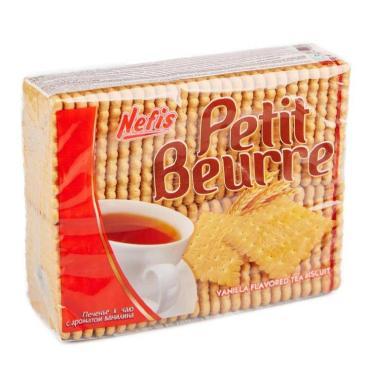Печенье со вкусом ванили, Nefis Petit Beurre, 370 гр., пластиковая упаковка