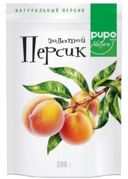 """ПерсикЗолотой, фрукты сушеные PUPO """"BUCHERON"""", дой-пак, 200г * 1 (1=10) нов.влож"""
