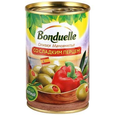 Оливки со сладким перцем Bonduelle, 314 мл., ж/б