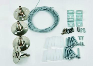 Крепления для светодиодных панелей серии PROM-3 UFL-H01 SILVER 100 POLYBAG, Uniel, 188 гр., пластиковый пакет