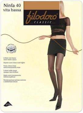 Колготки 40 den, Filodoro Ninfa Vita Bassa, 30 гр., бумажная упаковка