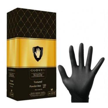 Перчатки Safe&Care Нитриловые одноразовые черные M 100шт.