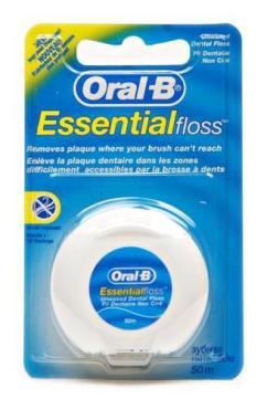 Зубная нить невощеная, 50 м. Oral-B 98 гр., Пластиковая упаковка