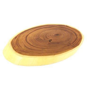 Доска сервировочная Доброе дерево Спил из массива оливы, 35-40 х 25-30 см.