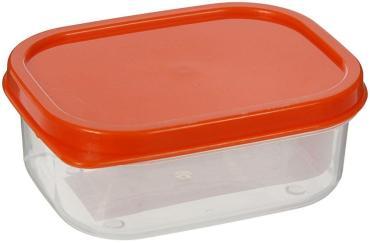 Контейнер пищевой Доляна, прямоугольный, цвет: оранжевый