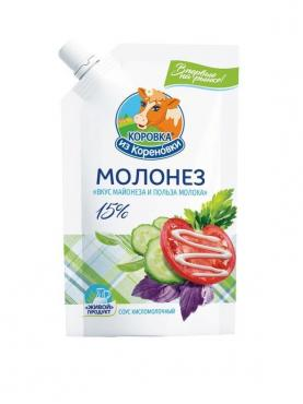 Молонез 15%, Коровка из Кореновки, 250 гр., дой-пак