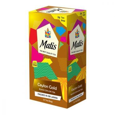 Чай пакетированный черный 25 пак. Matis Ceylon Gold, 50 гр., картонная коробка