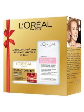 Набор косметики L'Oreal Paris для ухода за кожей крем дневной возраст Эксперт 45+ + мицеллярная вода