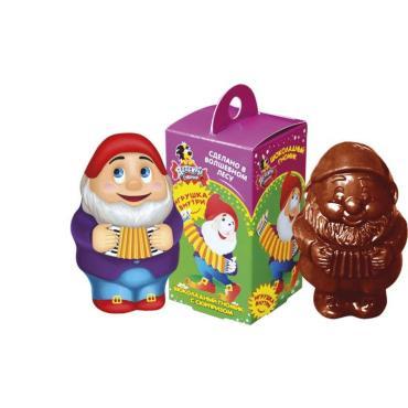 Шоколад фигурный Детский Сувенир Гном с сюрпризом