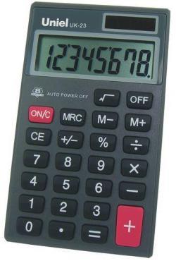 Калькулятор UK-23 Uniel, 80 гр., картонная коробка