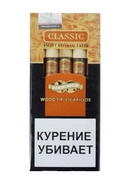 Сигариллы Handelsgold Classic Wood Tip-Cigarillos с деревянным мундштуком